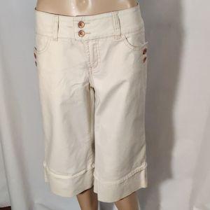 Faded Glory Stretch Cream Bermuda Shorts